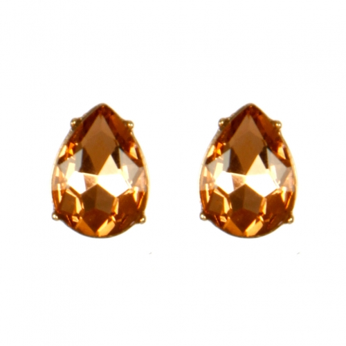 Wholesale M08E Tear Drop Faux Crystal Stud earrings GLPE