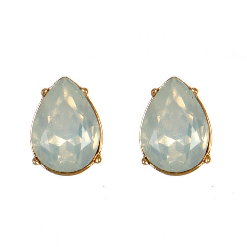 Wholesale M08E Tear Drop Faux Crystal Stud earrings GWT