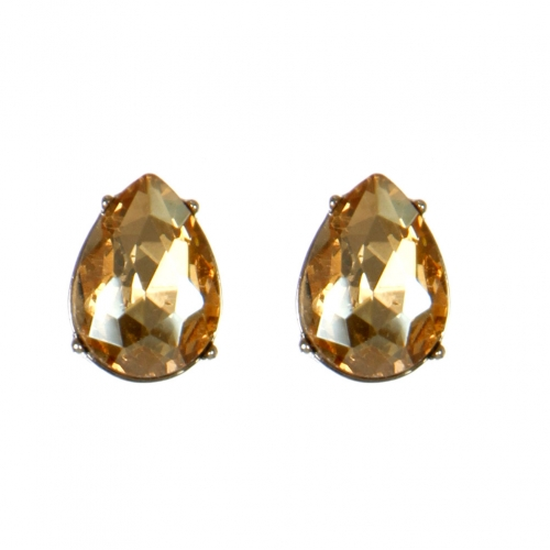 Wholesale M08E Tear Drop Faux Crystal Stud earrings RLBR