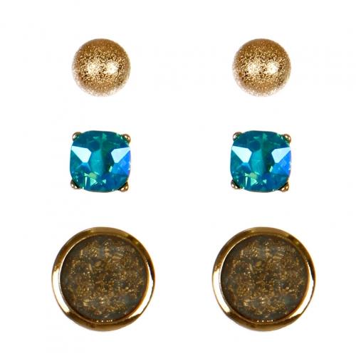 Wholesale N36E Faux Stone Set Earrings GA