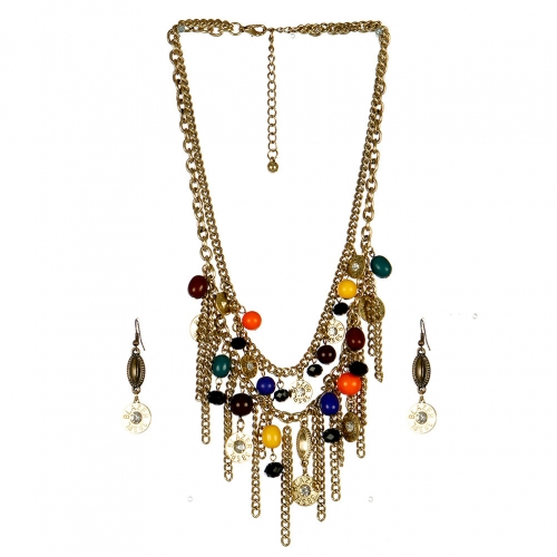 Wholesale L25C Multi Charm Necklace Set GDMT