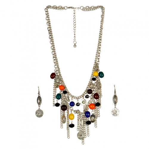 Wholesale L25C Multi Charm Necklace Set RHMT