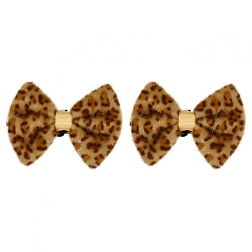 Wholesale M15A Leopard Ribbon Shop Clips BE