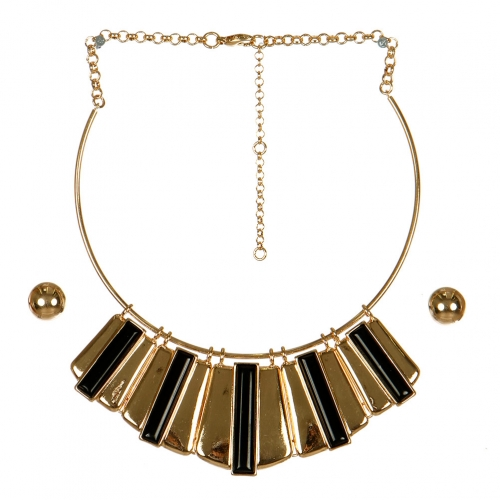 Wholesale M15B Matchstick Statement Necklace Set GBK