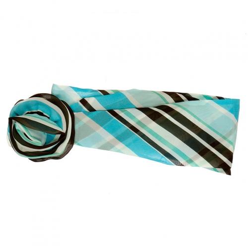Wholesale L32E Stripe Print Flower Ring Chiffon Belt BL