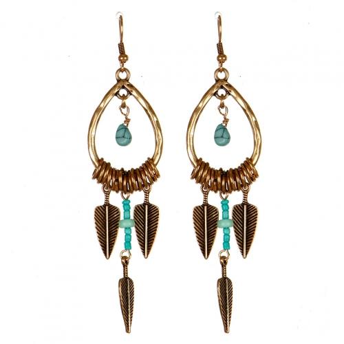 Wholesale M13B Feather Arrow Drop Earrings RGB