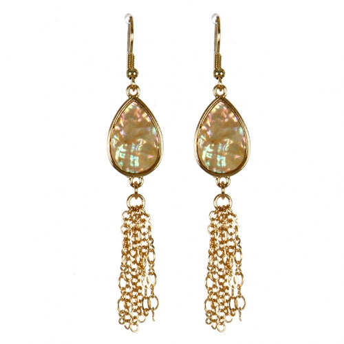 Wholesale M13B Abalone Tassel Earrings GD