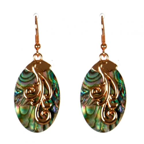 Wholesale M13B Abalone Earrings RG