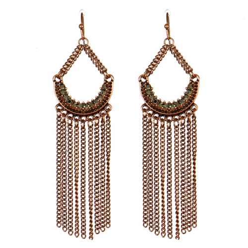 Wholesale M13E Chain Tassel Rhinestone Earrings CB
