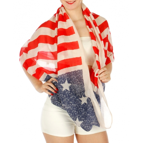 Wholesale H16E Light Color Americana Infinity Scarf FL