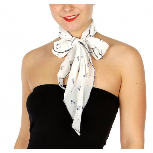 Wholesale H20C Small Anchor Pattern Petite Scarf NV