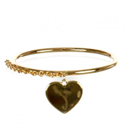 Wholesale L29A Heart Classic Metal Bangle G