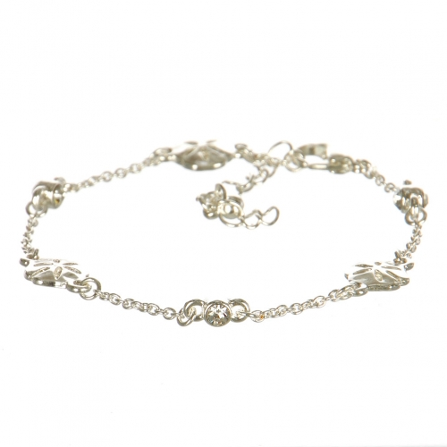 Wholesale L29B Sand Dollar Lobster Bracelet with Rhinestone SC