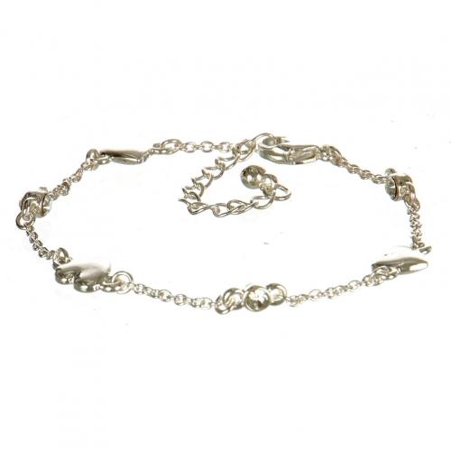 Wholesale L31A Heart Theme Lobster Bracelet with Rhinestones ASC