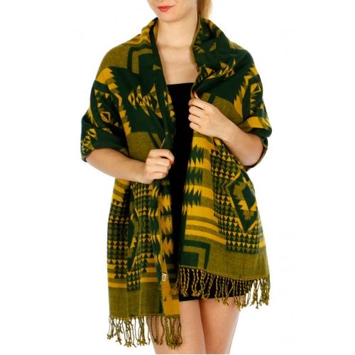 Wholesale P39E Soft Woven Shawl: Native American GNMS