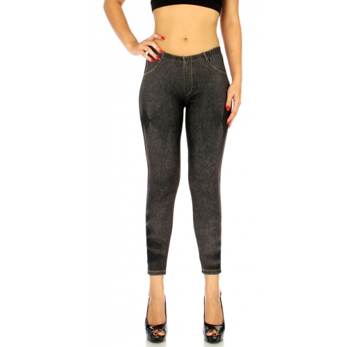 Wholesale B37B DISTRESSED Jean Jeggings Black