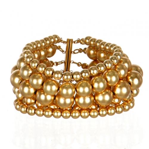 Wholesale L07D Multi Layer Stone Bead Bracelet WG