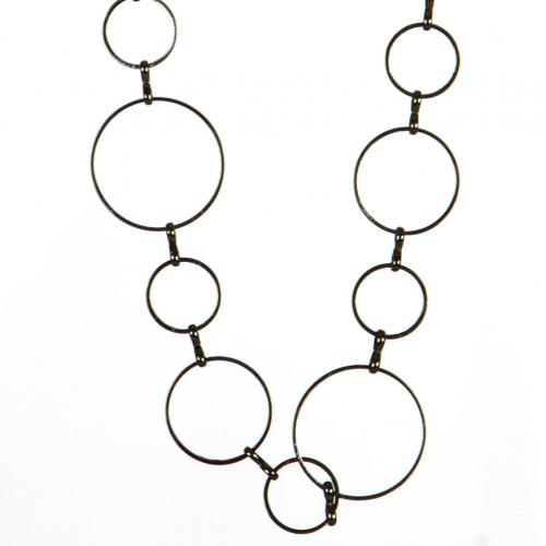 Wholesale L36D Linked Rings Long Necklace Set HEM