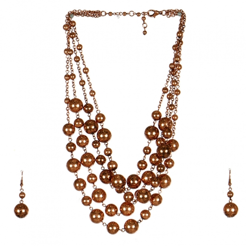Wholesale M17D Ball Chain Necklace Set COP