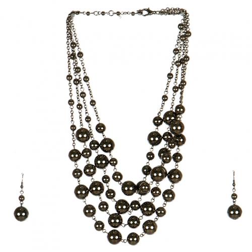 Wholesale M17D Ball Chain Necklace Set HEM