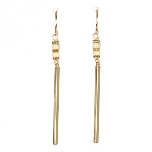 Wholesale M08C Bar Drop w/ Beads Earring IV