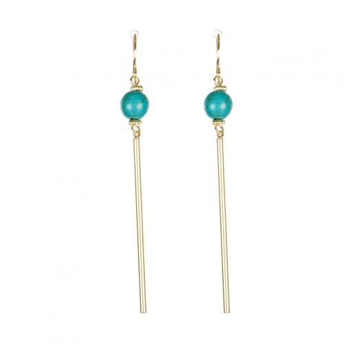 Wholesale M08C Faux Stone Bar Drop Earring GD