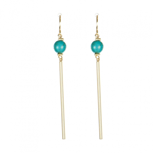 Wholesale M08C Faux Stone Bar Drop Earring GD