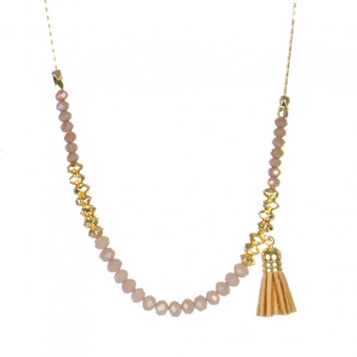 Wholesale M05B Beads w/ Tassel Long Necklace BR