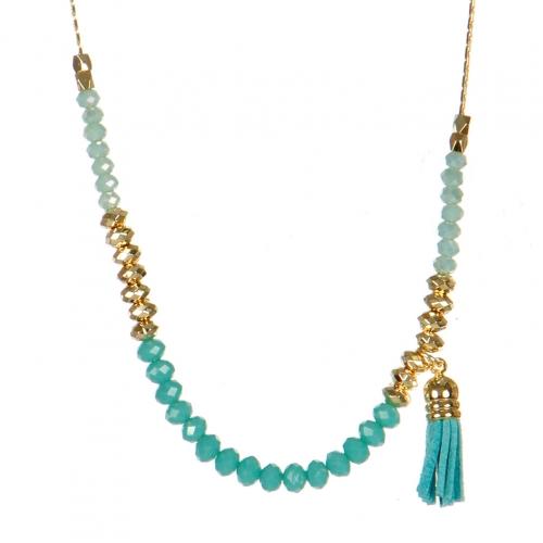 Wholesale M05B Beads w/ Tassel Long Necklace TQ
