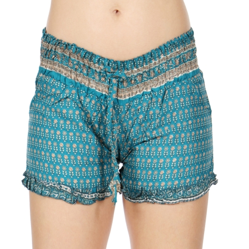 Wholesale I30E Ruffle Edge Tight Sari Shorts BD/OR