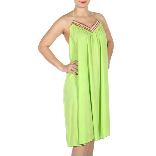 Wholesale I33D Neck Tie Around Wrinkle Dress GN