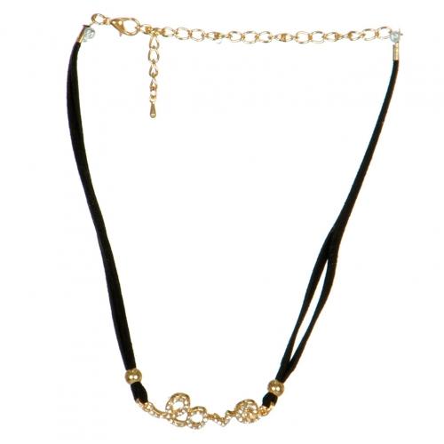 Wholesale N31B Love Rhinestone Choker Necklace GDCLR