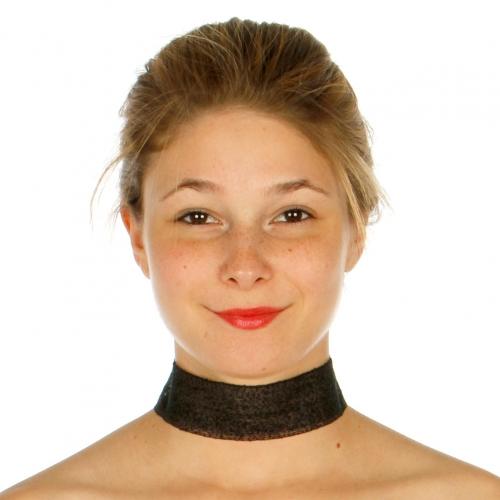 Wholesale N34B Thick Mesh Choker Necklace BLK