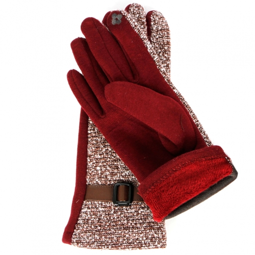 Wholesale T18A Touch Screen Tweed Winter Gloves BR