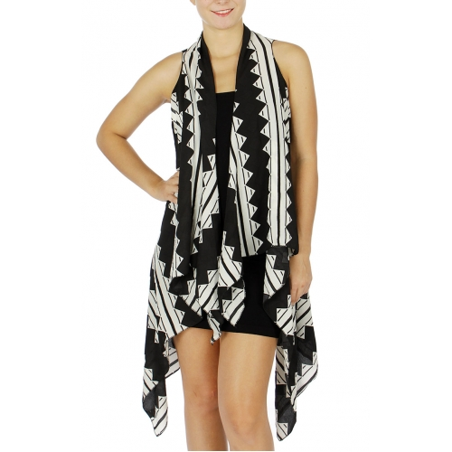 Wholesale P27A Hi Low Tribal Vest