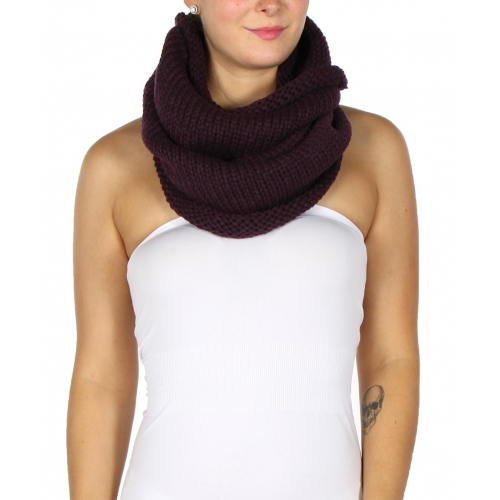 Wholesale P02 Turtleneck Infinity Scarf BK