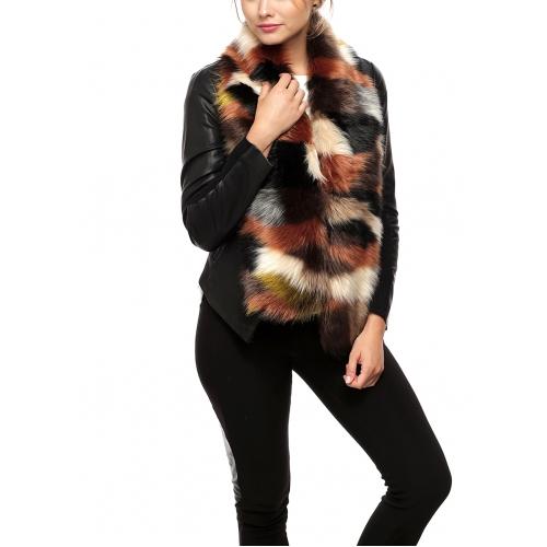 Wholesale P05D Faux Fur Ombre Color Scarf BRML
