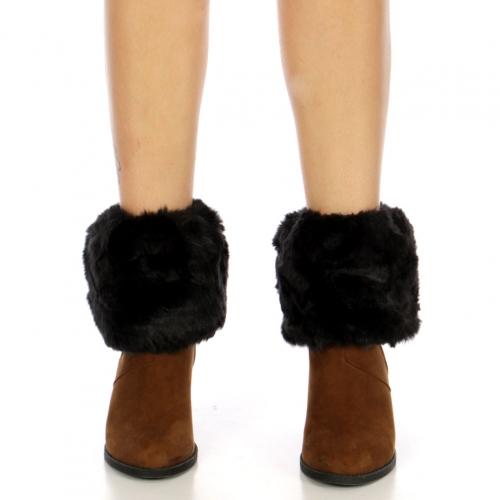 Wholesale P26D Faux Fur Boot Topper BK