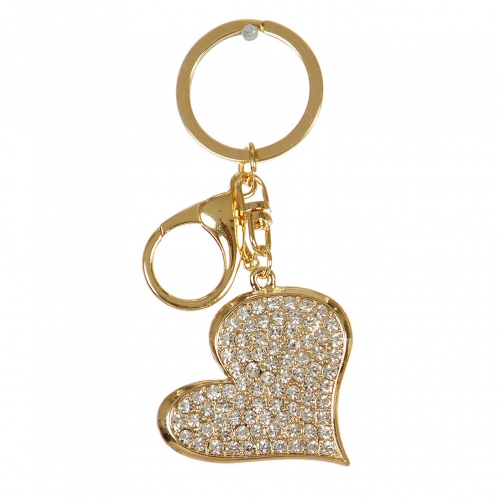 Wholesale M02E Studded Heart Keychain GD
