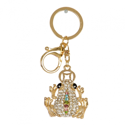 Wholesale M10B Studded Frog Keychain GD