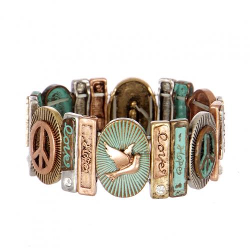 Wholesale L21A Love Hope Peach Bracelet PTMT