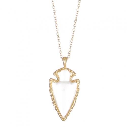 wholesale WA00 Arrowhead Epoxy Stone 30'' Necklace WGC