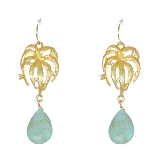 wholesale WA00 Rhinestone onyx pattern earrings GTQ
