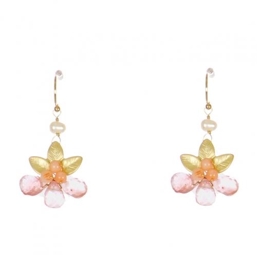 Wholesale WA00 Beads And Leaves Earrings Gco