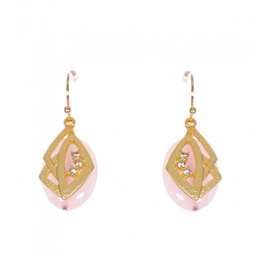 Wholesale WA00 Stone and metal earrings w/ rhinestone GPK