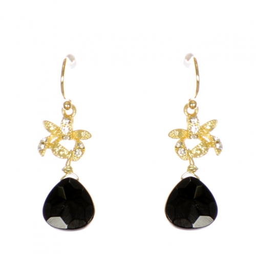 Wholesale WA00 Rhinestone and teardrop stone earrings GBK