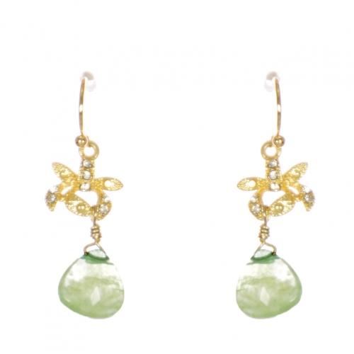 Wholesale WA00 Rhinestone and teardrop stone earrings GMT