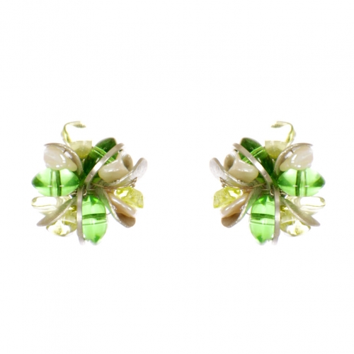 Wholesale WA00 Faux pearl and stone studs RGR