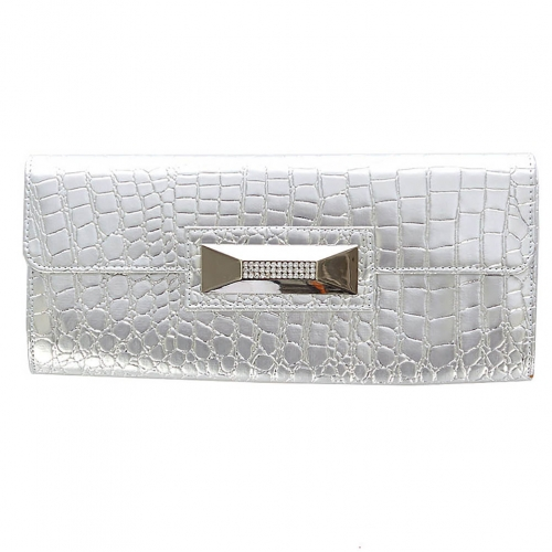 Wholesale T81A Faux snakeskin square clutch bag SL