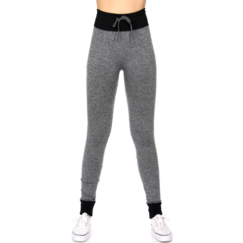 Wholesale A20 Legging Jogger pants w/ drawstring Black